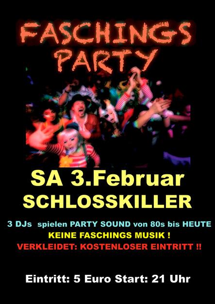 Faschings Party im Schlosskeller